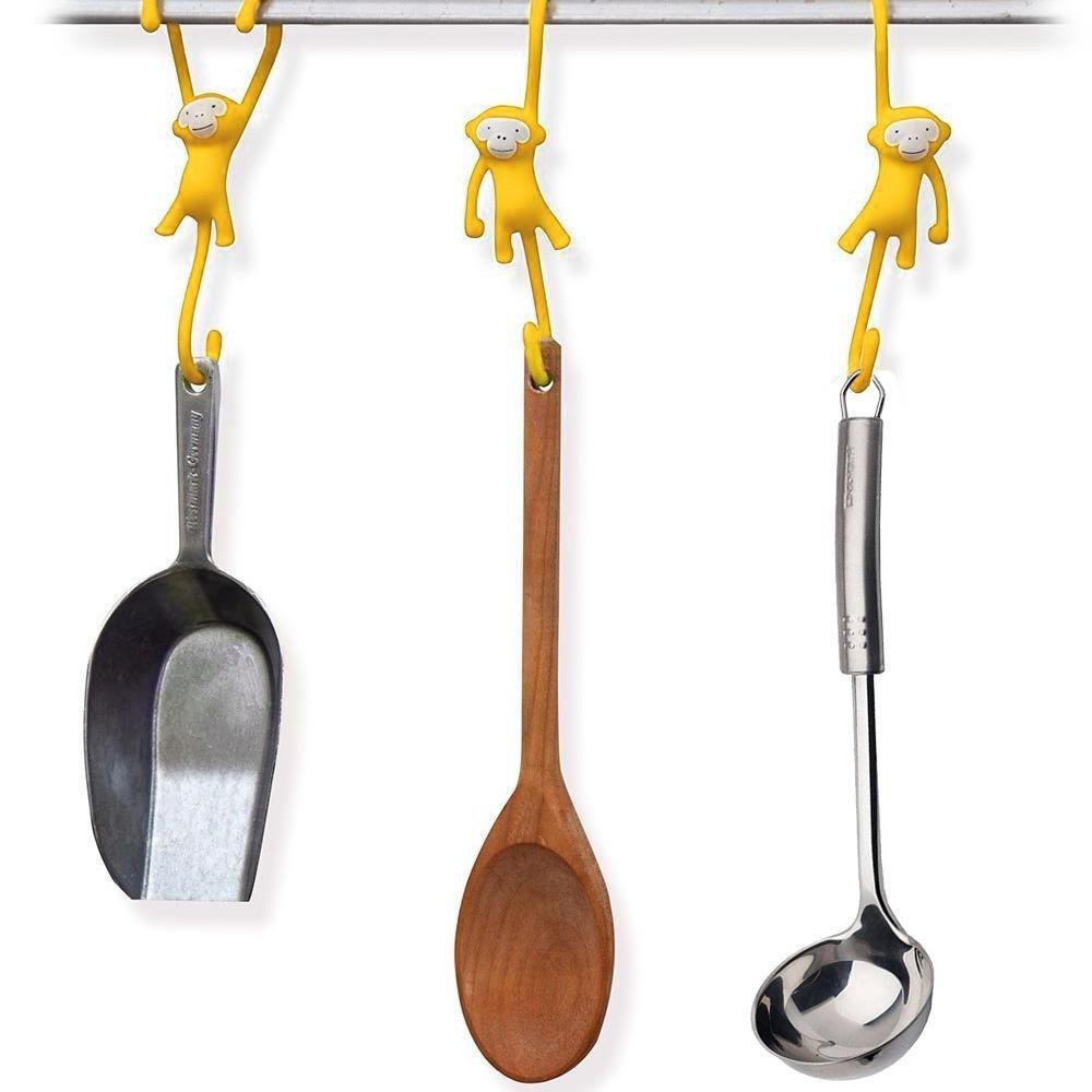 Get quotations · aolvo monkey shaped hookss hooks for hanging potskitchen utensil hooks plastic