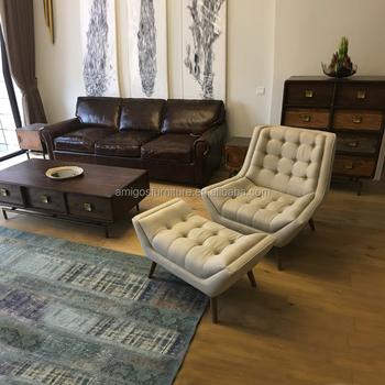 New Luxury Ivory Cream Beige Chesterfield ArmChair Velvet Tufted Chair Sofa