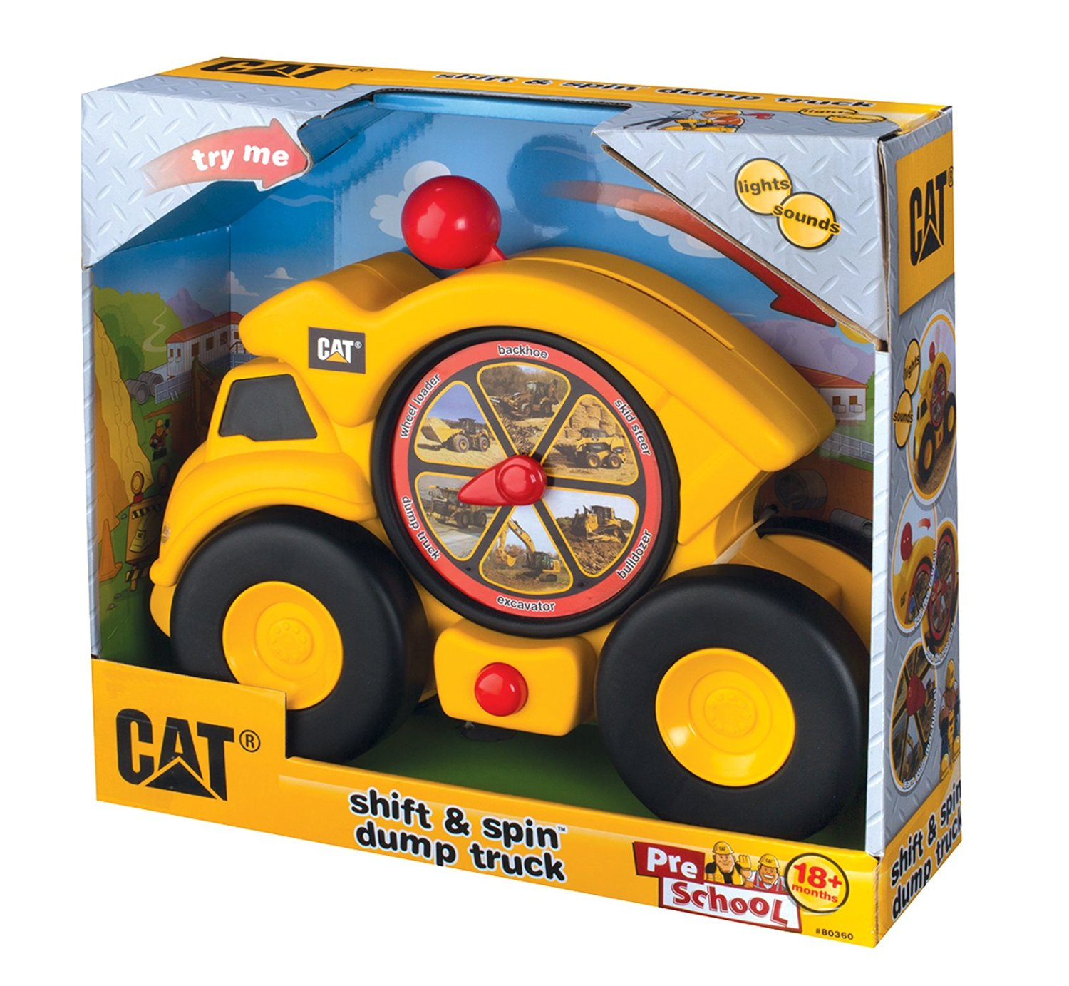 Get Quotations · Toysmith Caterpillar Shift and Spin Dump Truck-Cat