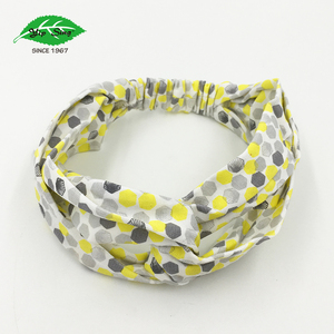 Yellow Summer Twisted Knotted Head Wrap Elastic Turban Headband Nice Color Hairband