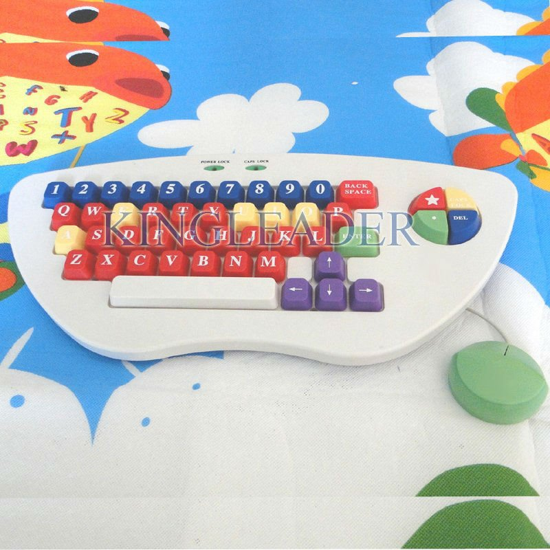Waterproof color with large keys plug and play children keyboard with mouse combo