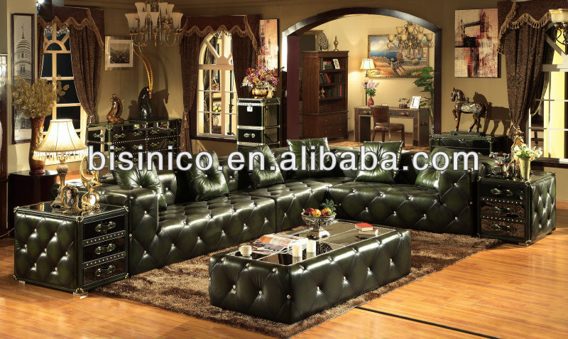 Style am ricain v ritable en cuir salon canap moderne salon de meubles b14216 canap salon - Salon americain ...