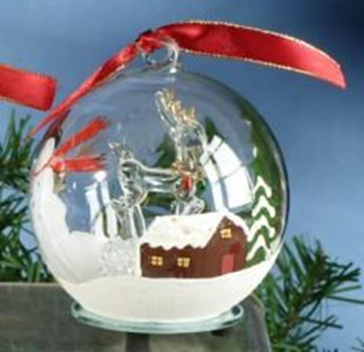 StealStreet SS-UG-HD-0368 Christmas Light Up Glass Ornament Ball - Reindeer
