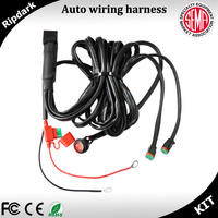 Include led switch kit 12V 40A Wiring Harness for 300W automotive work light bar wiring loom harness
