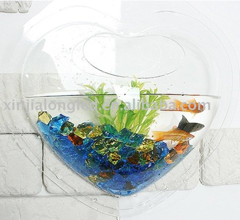 Heart-shaped Wall Mounted Aquarium