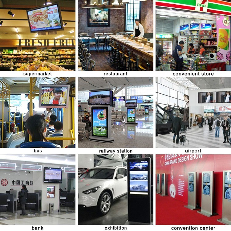 65inch digital signage media player advertising mupi advertising