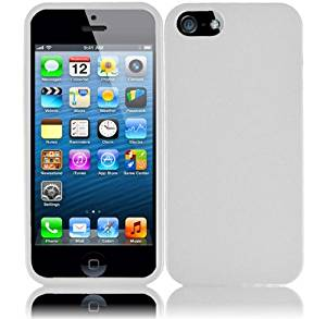 Importer520 Rubberized Snap-On Hard Skin Protector Case Cover For Apple iPhone 5S / 5 - White