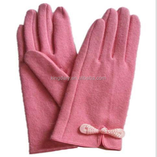 2016 Wholesale Fashion and Classic Ladies' Not Velvet Fleece Gloves WIth Any Design Customized