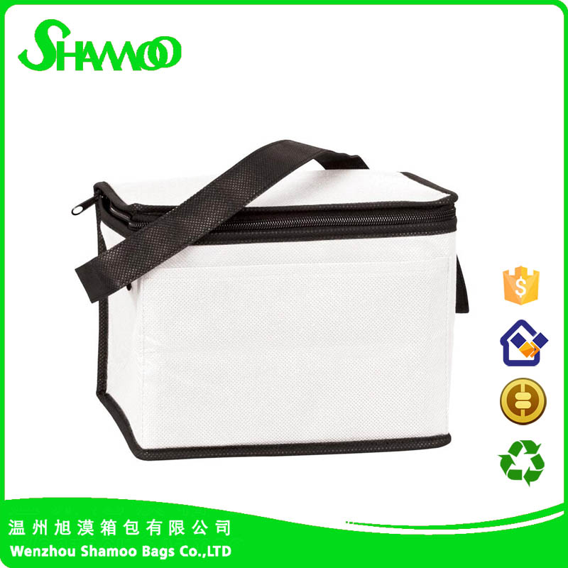 fashional shoulder Food Beach cooler bag non woven insulated four can cooler bag