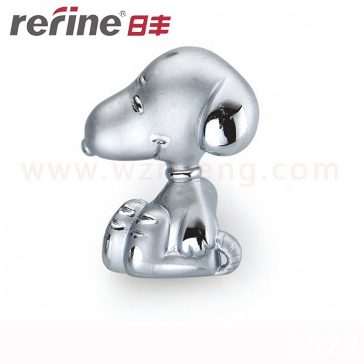 Single Hole Kids Children Bedroom Snoopy Dog Zinc Alloy Cartoon Furniture <strong>Handle</strong>