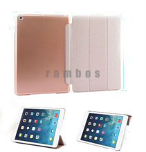 Ultra Thin Leather Smart Cover Case with Back Cover Shell Stand Coque Wake/Sleep for ipad Air