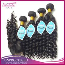 Ladies new fashion havana mambo twist crochet braid hair afro hair nubian kinky twist bundles 4 with closure
