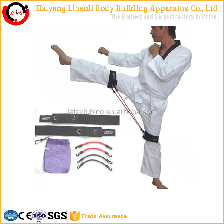 Main Product Pure Latex Taekwondo Resistance Band Set With Multiple Tubings