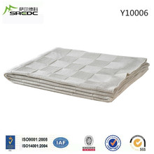 queen size white col knit 100% acrylic blanket