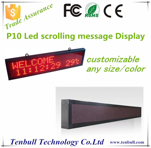 P10 red led moving message display board ,led scrolling bar sign,Programme led messag board