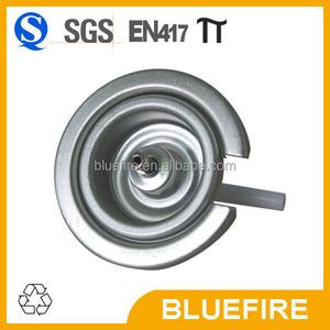 Butane gas cartridge valve with red cap