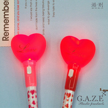 Direct deal heart shape stylus cute designed evening party roller pen for concert gifts with Toggle Light