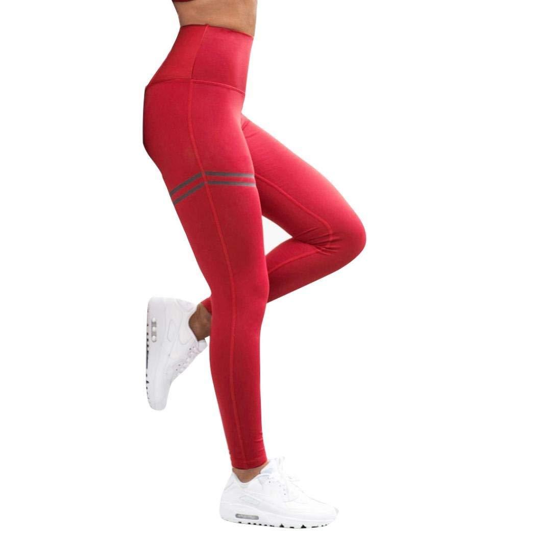 kaifongfu Womens High Waist Yoga Shorts Abdomen Control Training Running Yoga Pants Stretchy Tights for Ladies