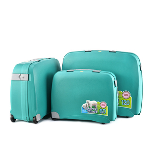 BUBULE China 3 Piece Huge Capacity PP Trolley Luggage Bag Travelling Suitcases Luggage