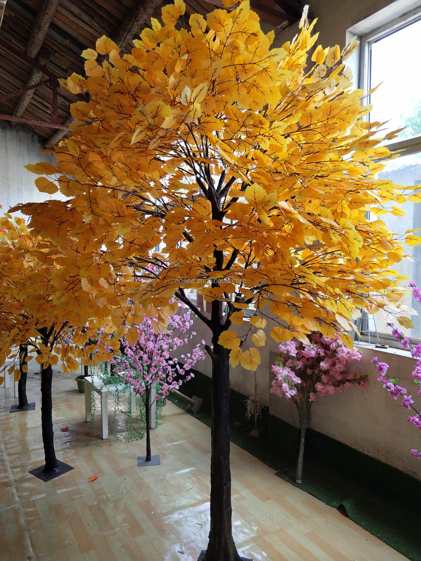 China Wholesale Lifelike Faux Ginkgo Tree Artificial Ginkgo Golden Leaves Treen Buy Artificial Ginkgo Biloba Ginkgo Tree Artificial Maidenhair Tree