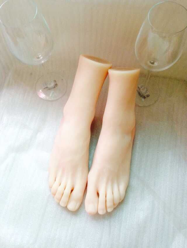Has touched Silicone feet sex toy that