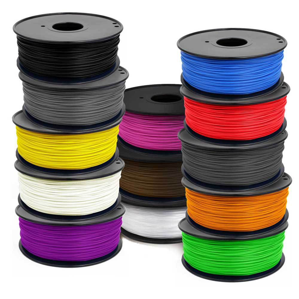 Black Color 3d Printer Filament PLA/ABS 1.75mm 1kg Plastic