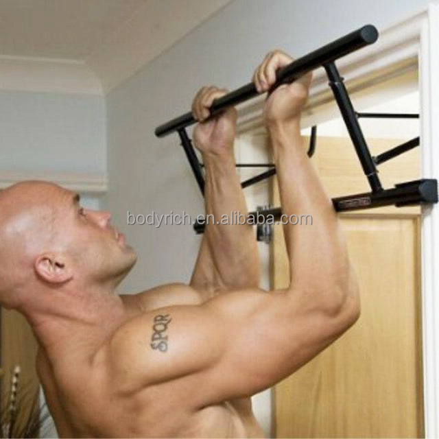 Exercise Fitness Pullup Dip Fold Flat Door Gym Bar
