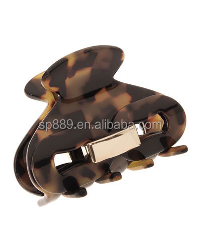 Cheapest korean hair claw clamps epoxy hair jaw clamps in high quality hair jewelries