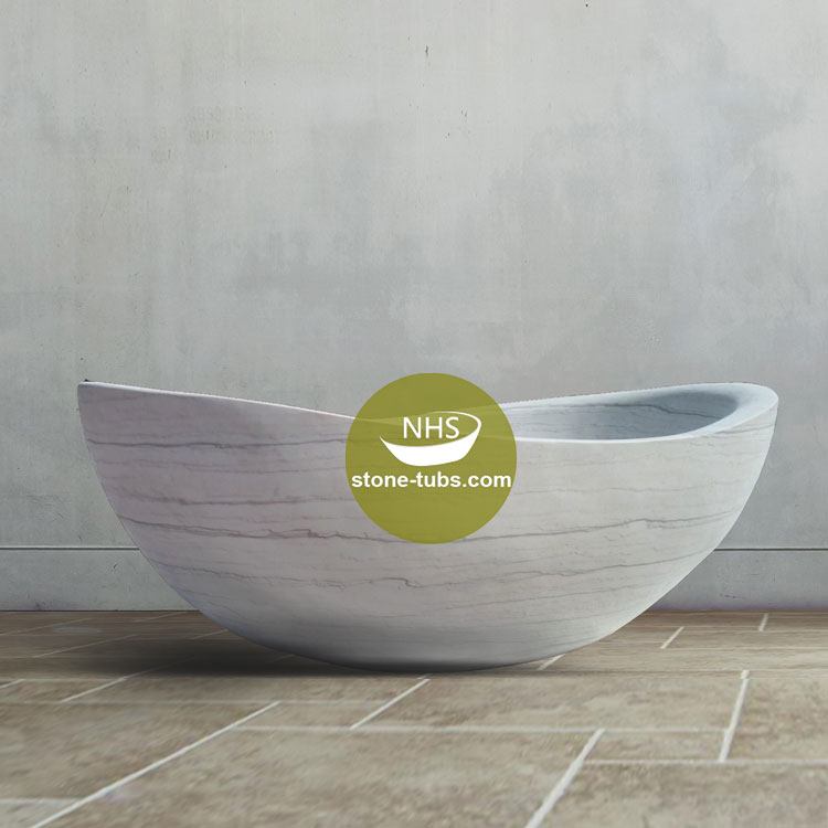 oval soaking natural stone white marble solid bathtub bath tub freestanding in bathroom manufacturer price for sale