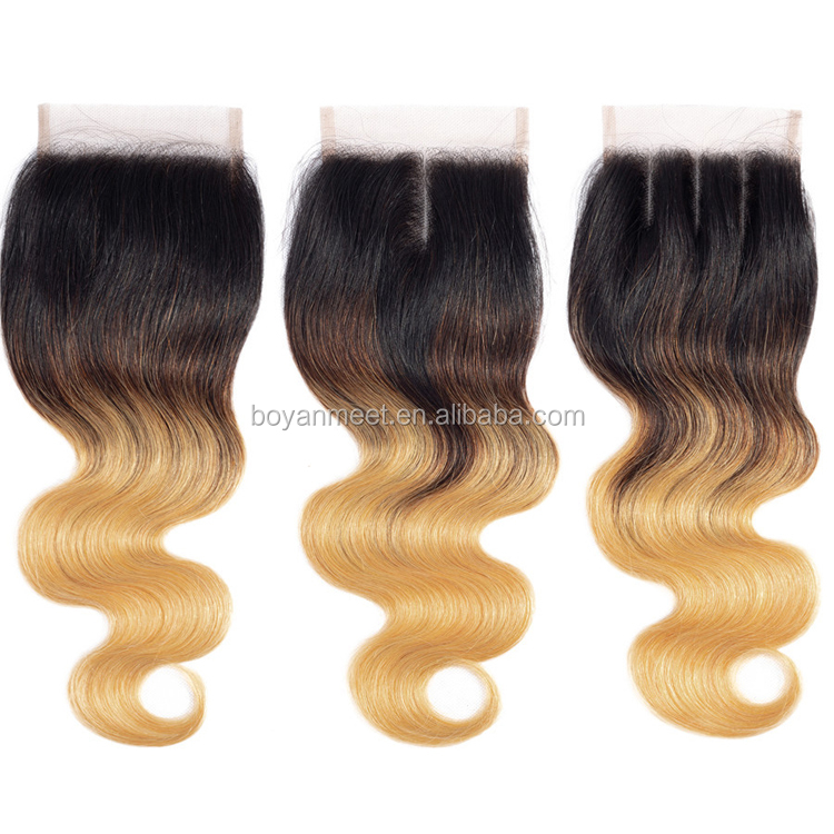 Brazilian  Body Wave Virgin Human Hair Bundles Ombre Extensions 100% Natural  Cuticle Aligned Hair