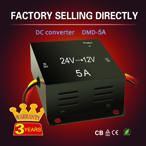 5A 24 volt 12 volt convertor dc 24v to dc 12v converter 50W power modules for wind generator