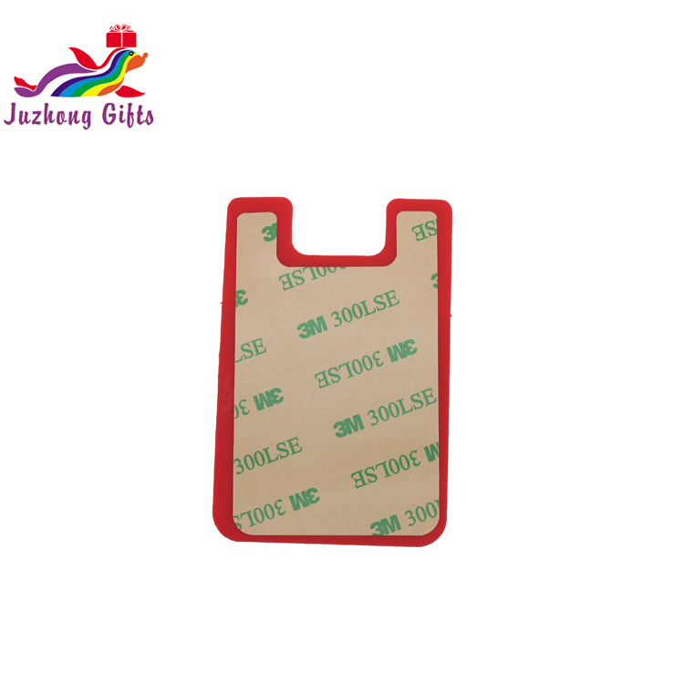 Wholesale of adhesive card holder phone case,high quality silicone card holder wallet