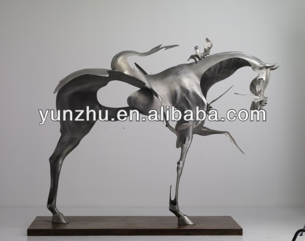 Abstract Steel Horse Sculpture,Art Horse Steel garden statues