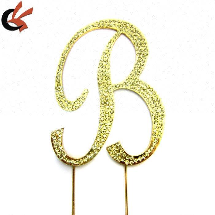 堺gfy.b�h�9�c:(_monogram gold cake topper in any letter a b c d e f g h i j k l