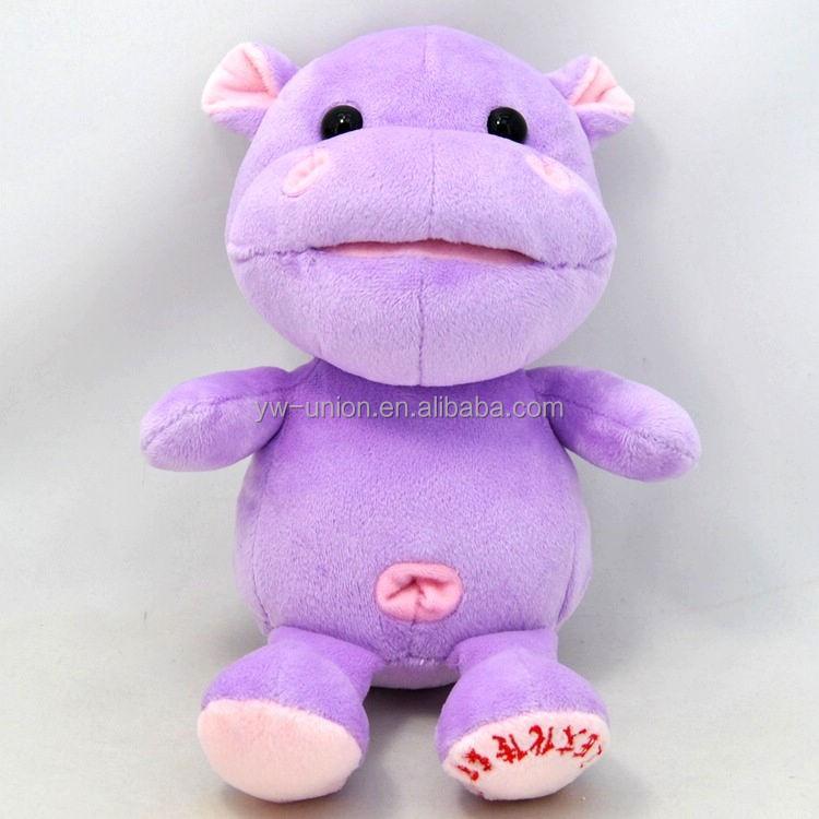 Plush Toy Purple Animal Hippo