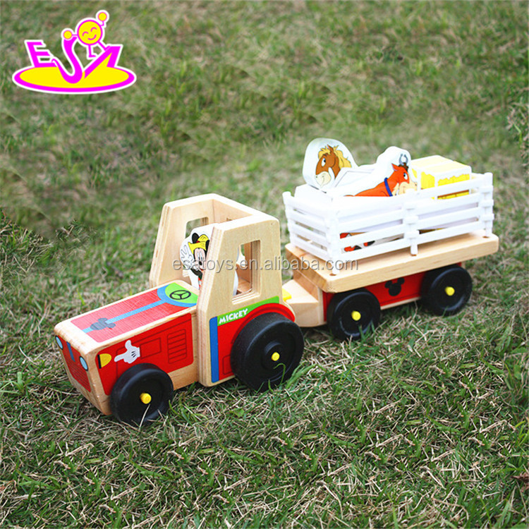 new design kid wooden truck toy car W04A266