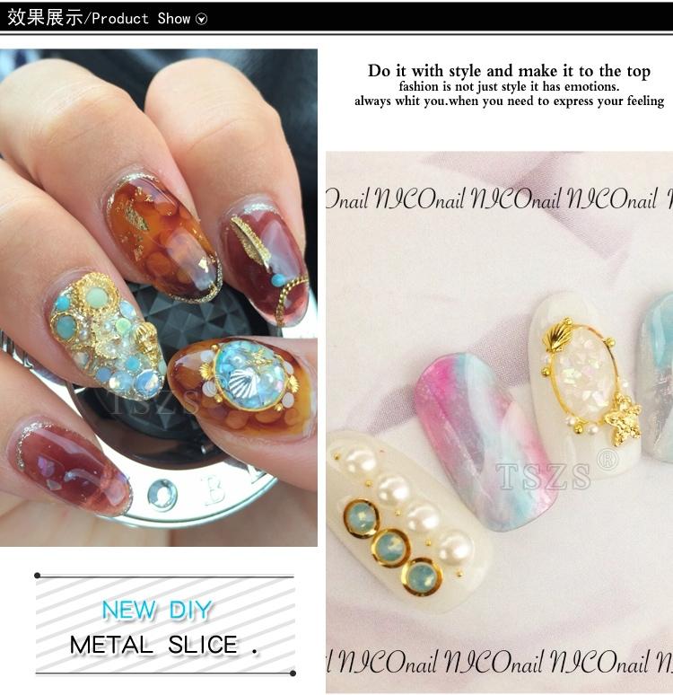 Mix Size Japanese Type Nail Art Retro Metal Alloy Gold Silver Nail