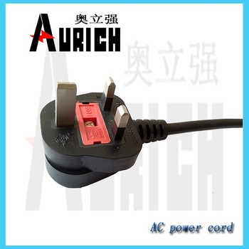 Euro type power cord cable,power cord 3 wire plug,15a plug insert power cord
