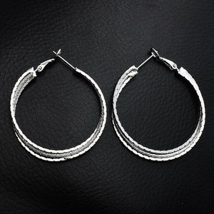 ERPL029 silver earring jewelry ear clip for office lady