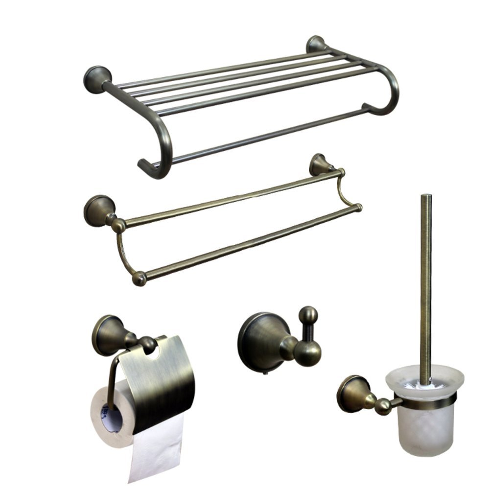 ZZB All Copper Bathroom Accessories/Bronze Towel Rack/Towel Bar/Toilet Paper Holder/Hook/Bathroom Accessories Set-A