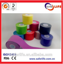 CE FDA approved 5*5 cm multicolor kinesiology sport tape therapy tape or muscle tape