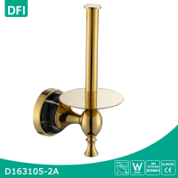 Luxury gold toilet paper holder stand