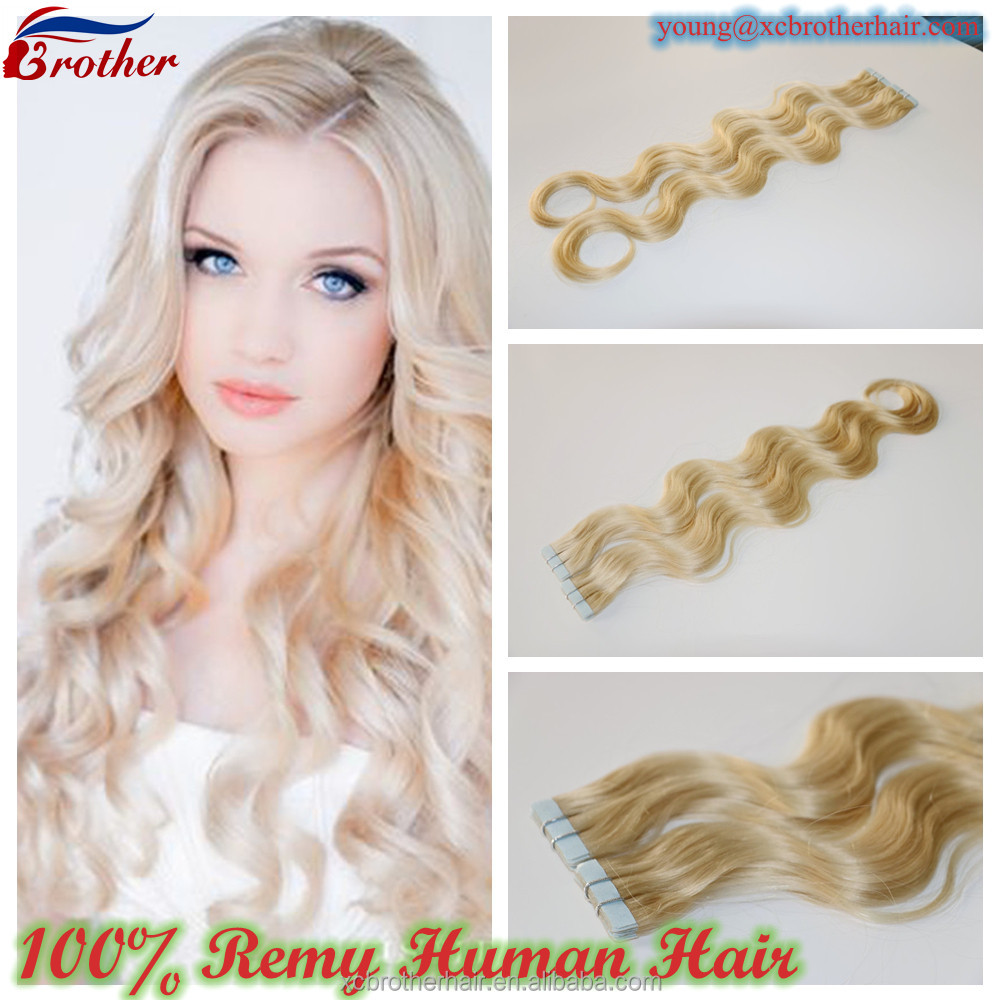 Hair Extensions Tape-in Skin Weft Seamless Body Wavy Body Wavy Remy Human Hair Extension