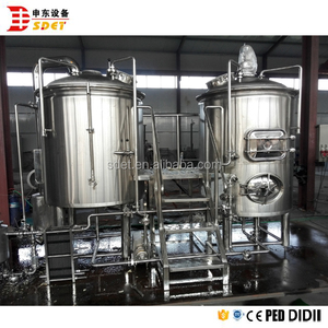 Stainless steel beer brewing equipment 1bbl micro brewery system for sale