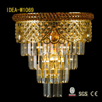 W1069 k9 k5 crstal wall lightings lamp with or without RGB LED