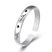 925 sterling silver wholesale expandable bangle 925 Sterling silver open bracelet made in china 새 보석 대 한 men