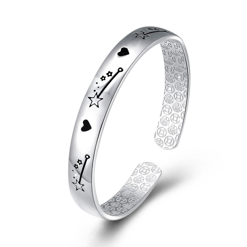 925 sterling silver wholesale expandable bangle 925 Sterling silver open bracelet made in china new jewelry for men