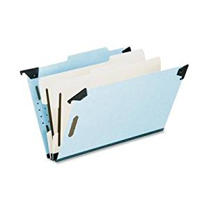 Pendaflex Hanging Classification Folders - Legal - 8.50quot; Width x 14quot; Length Sheet Size - 2quot; Expansion - 2.75quot; Folder Fastener Capacity - 2 Dividers - 25 pt. - Pressboard - Blue - 1 Each