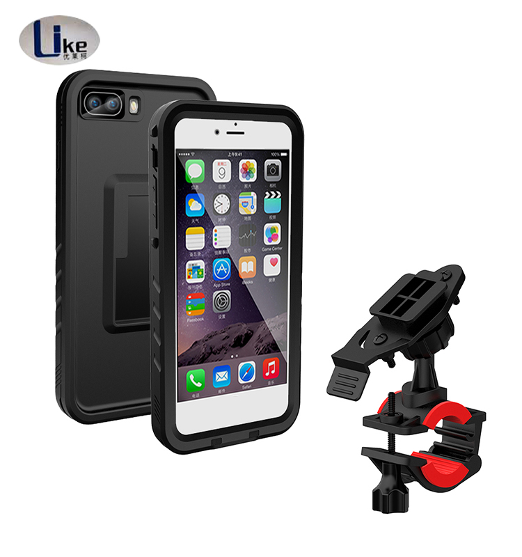 shockproof TPU / PC phone case Bike & Motorcycle Mount Shockproof Case