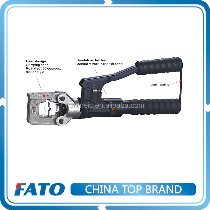 FATO Good Quality Cordless Electric Hydraulic Hand Hose Cable Lug Crimping Tool Price